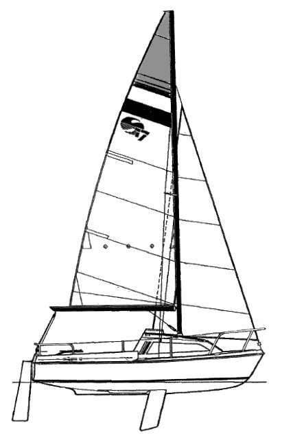 Mariner 17 (Milne) drawing on sailboatdata.com