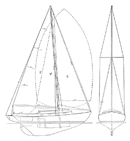 MARLIN 23 (HERRESHOFF) drawing