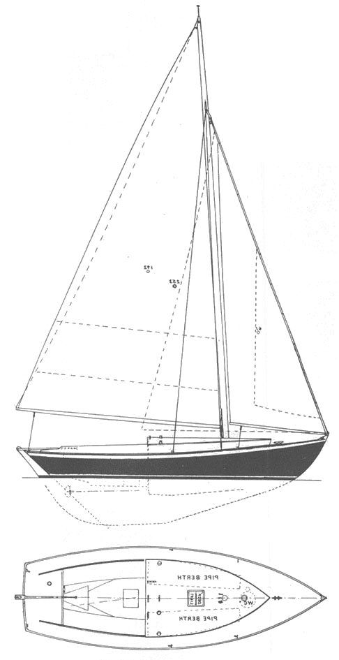Marlin (Herreshoff) drawing on sailboatdata.com