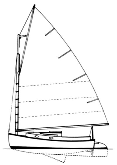 Marshall 22 cat drawing on sailboatdata.com
