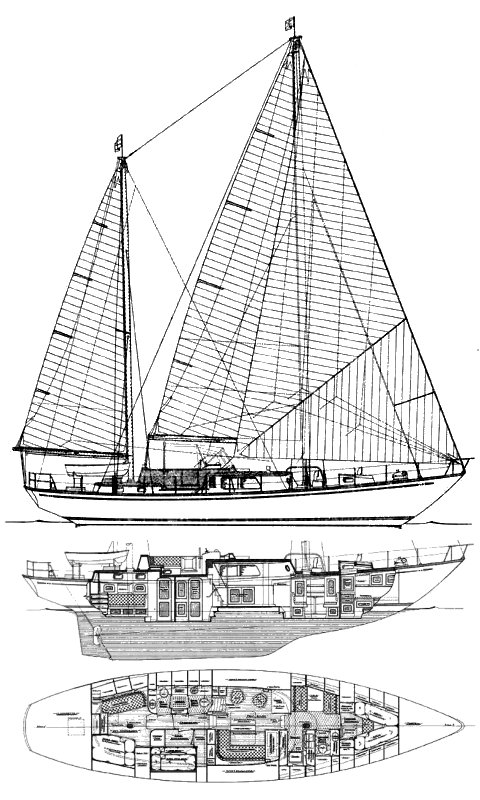 Mason 63 drawing on sailboatdata.com