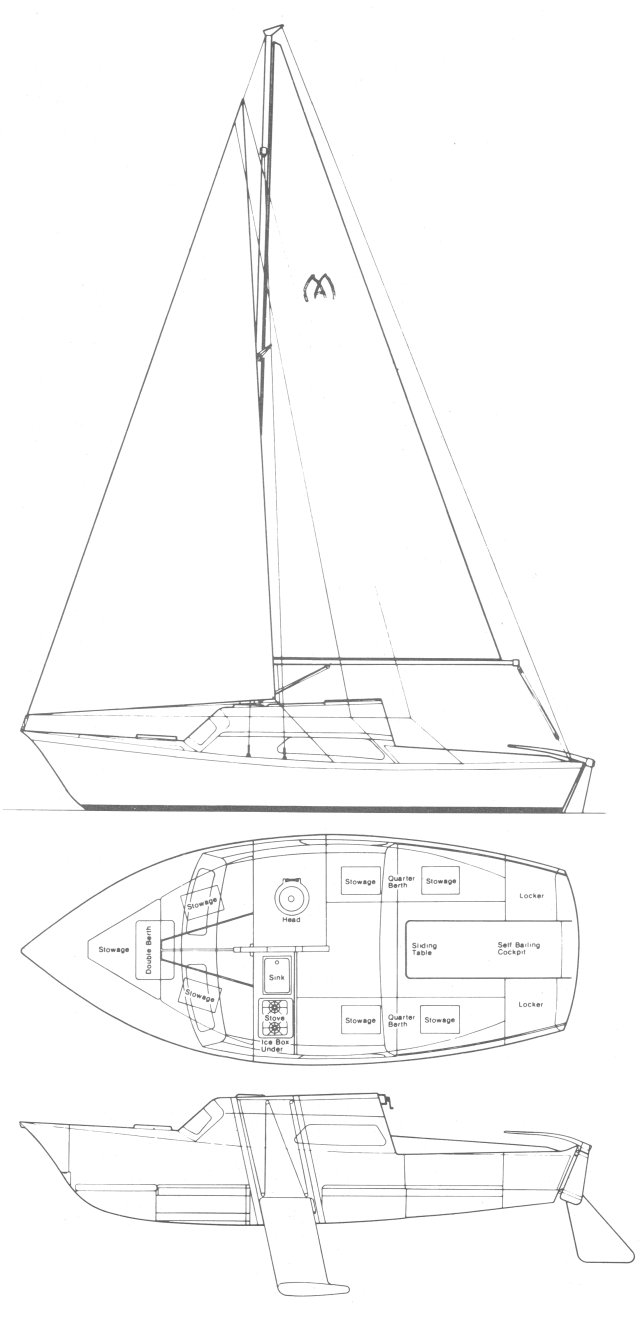 Matilda 20 drawing on sailboatdata.com