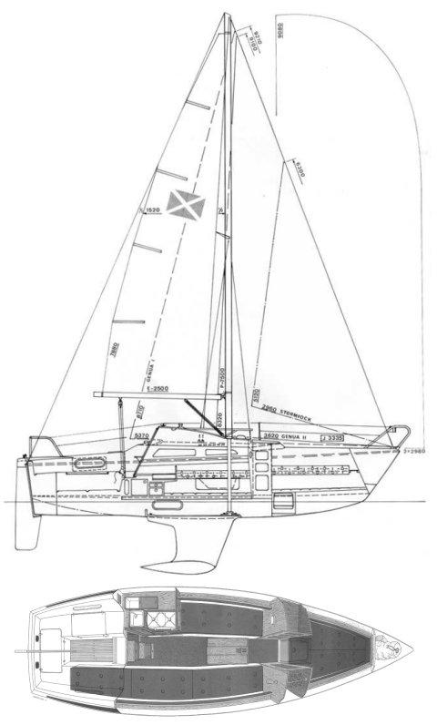 MAXI 77 drawing