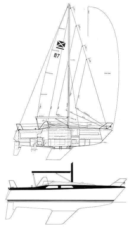 MAXI 87 drawing
