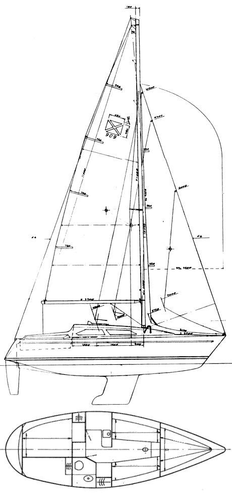 MAXI 909 drawing