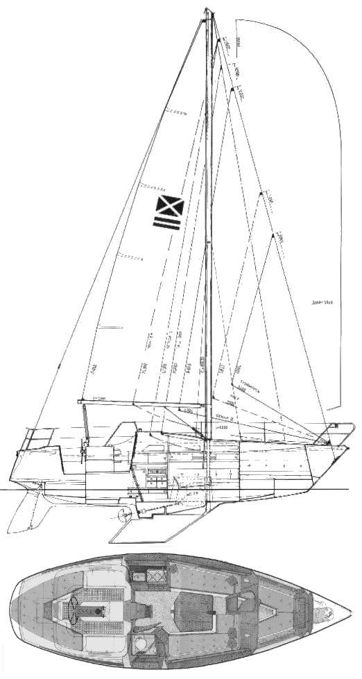 MAXI 95 drawing