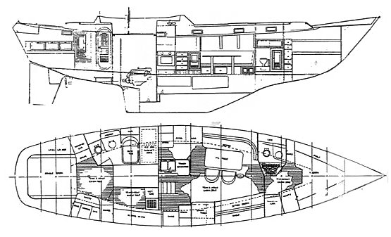 Mayflower 48 drawing on sailboatdata.com