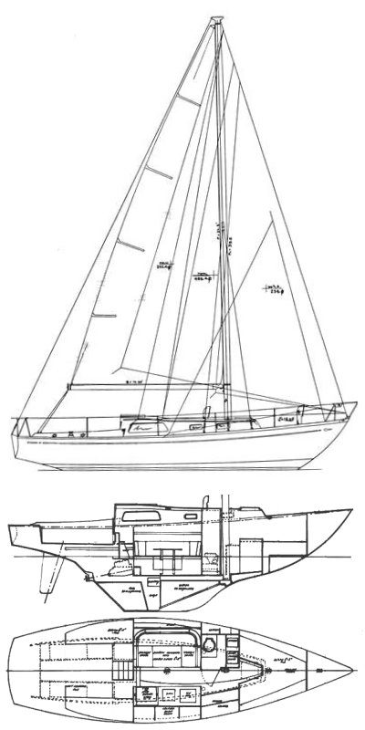 Medalist MKII-III drawing on sailboatdata.com