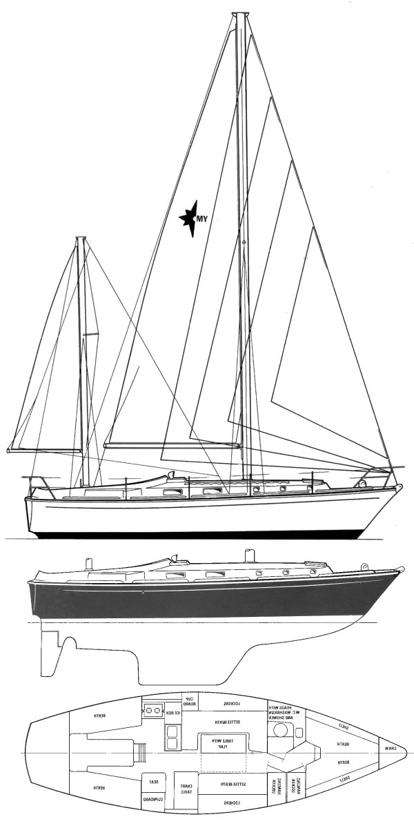 MEDWAY 36 (WESTERLY) drawing