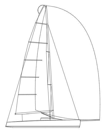Melges 32 drawing on sailboatdata.com