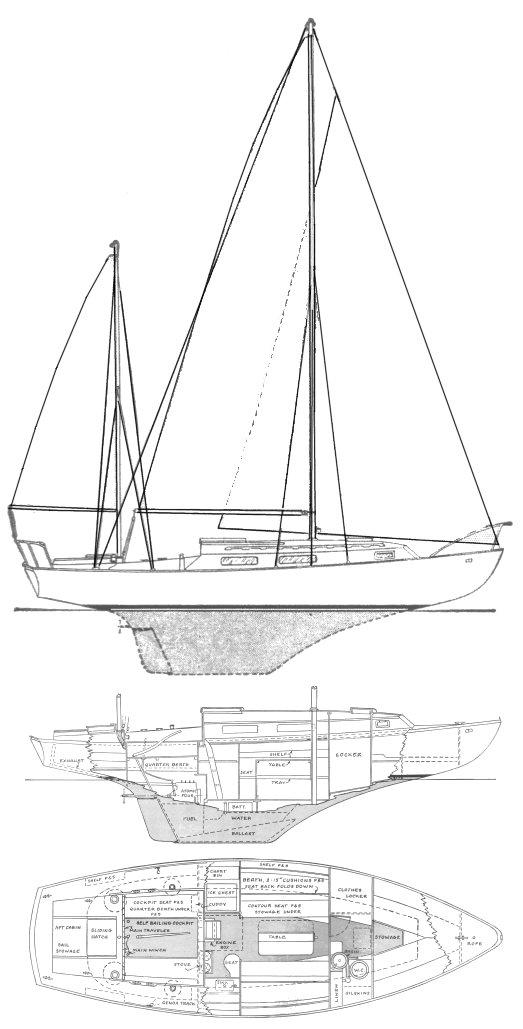 MELODY 34 (HUNT) drawing