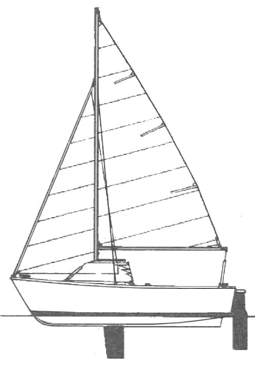 Metaf (Jeanneau) drawing on sailboatdata.com