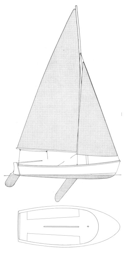 Meteor 14 (Sailstar) drawing on sailboatdata.com