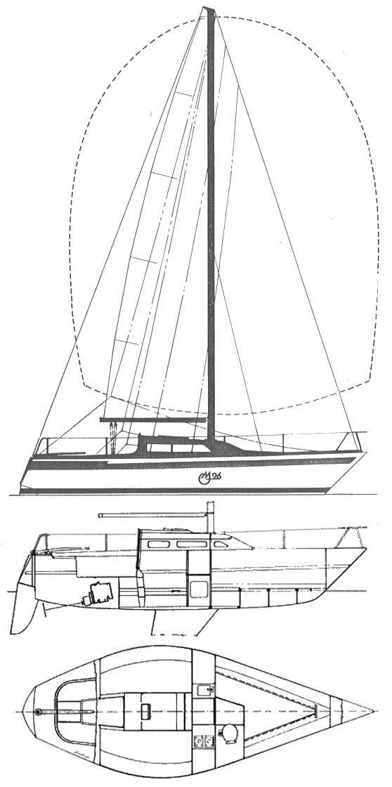 MG 26 (Peterson) drawing on sailboatdata.com