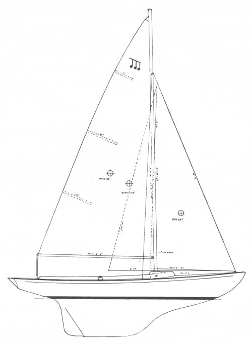 Minuet (McVay) drawing on sailboatdata.com