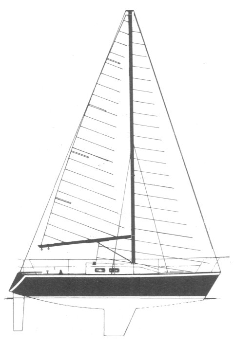 Mirage 28 (Kelley) drawing on sailboatdata.com
