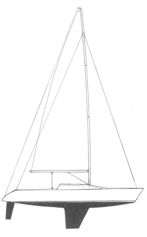Mirage 338 drawing on sailboatdata.com