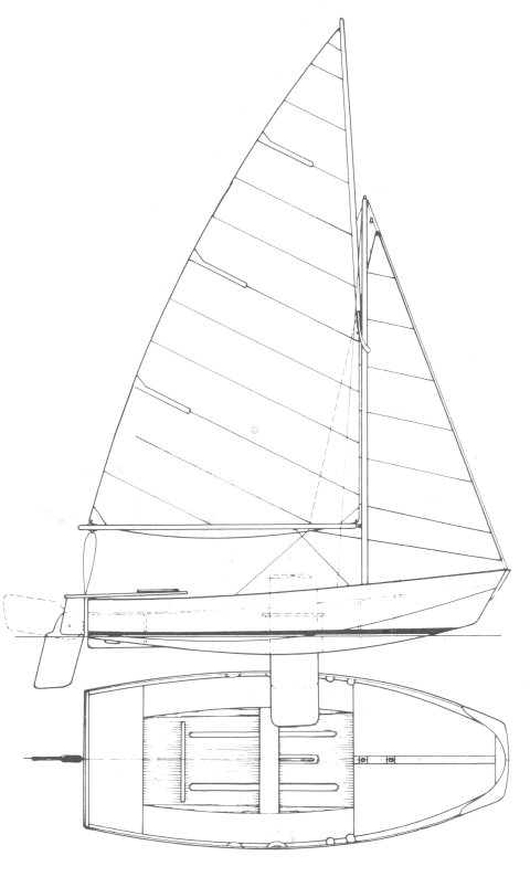 Mirror Dinghy drawing on sailboatdata.com