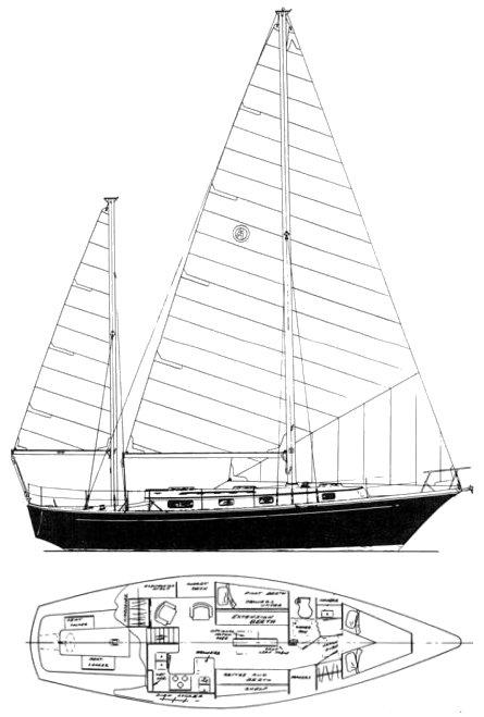 MISTRESS 39 MKII (ALLIED) drawing