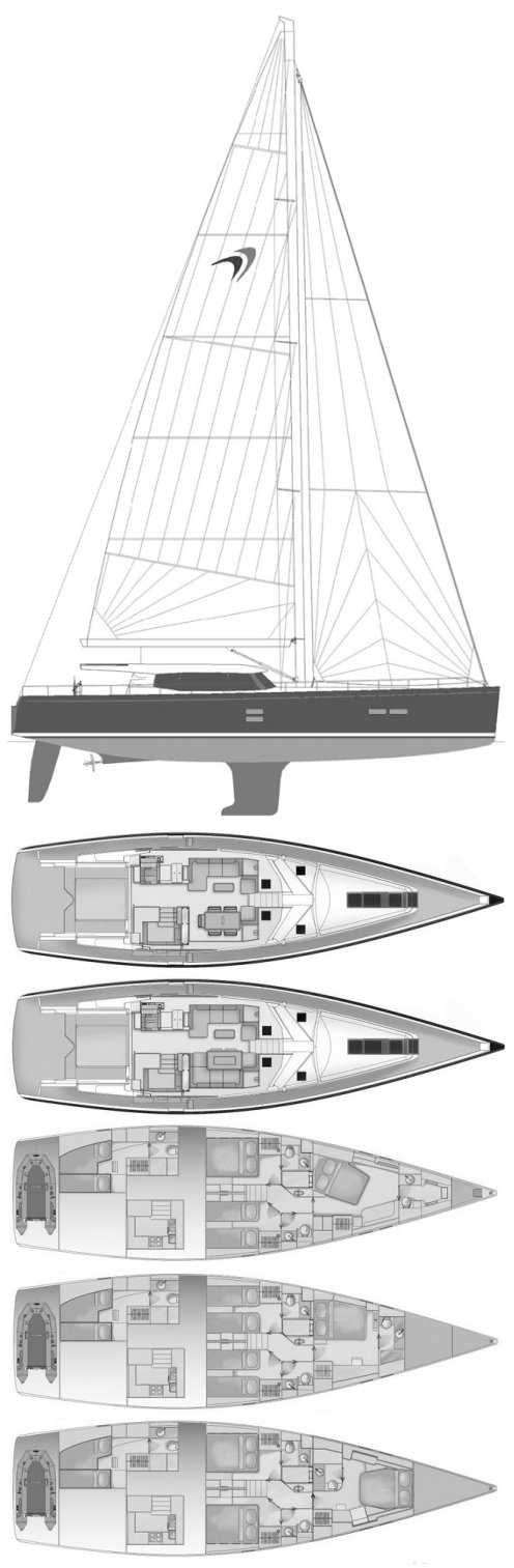 Moody 62 DS drawing on sailboatdata.com