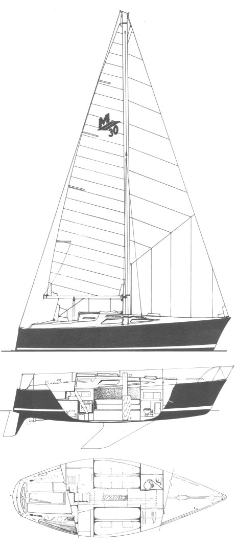 Morgan 30-2 drawing on sailboatdata.com