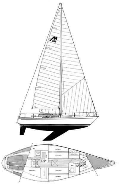 Morgan 36T drawing on sailboatdata.com