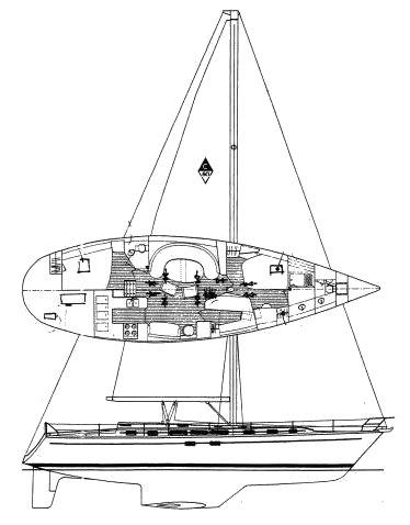 Morgan/Catalina 50 drawing on sailboatdata.com