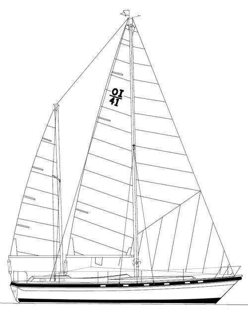 MORGAN OUT ISLAND 415 KETCH drawing