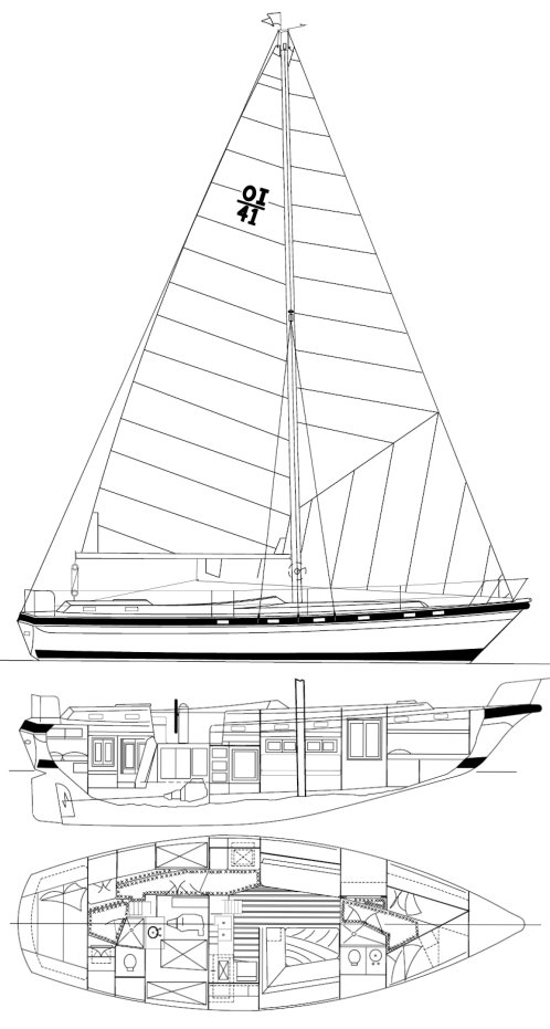 MORGAN OUT ISLAND 415 drawing