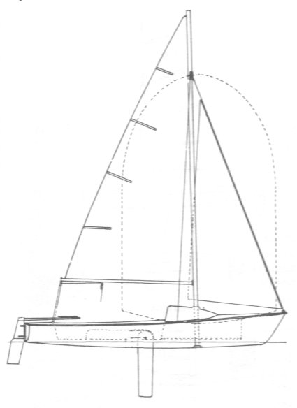 Mouette 19 drawing on sailboatdata.com