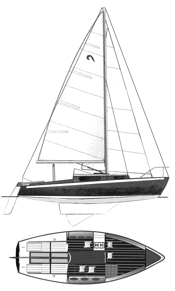 Mousquetaire drawing on sailboatdata.com