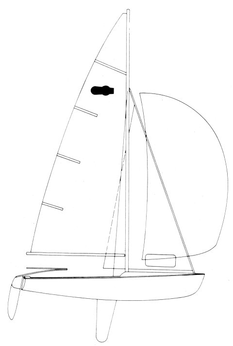 Mutineer 15 drawing on sailboatdata.com
