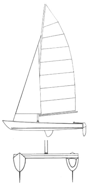 Mystere 5.0 drawing on sailboatdata.com