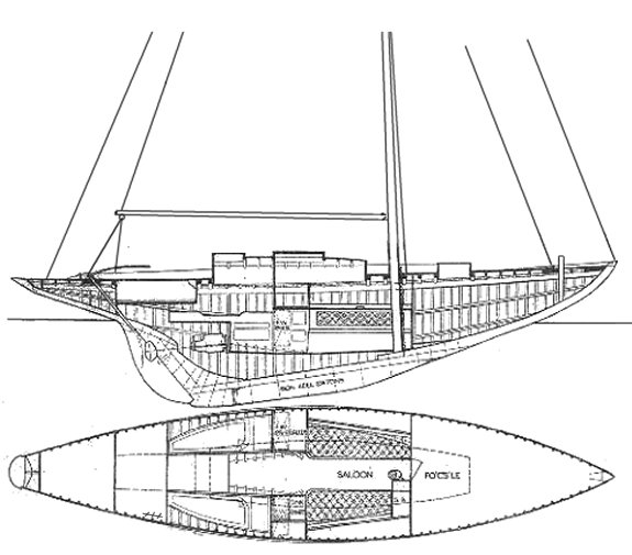 Mystery Class (Clark) drawing on sailboatdata.com