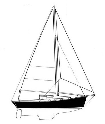Mystic 30 drawing on sailboatdata.com