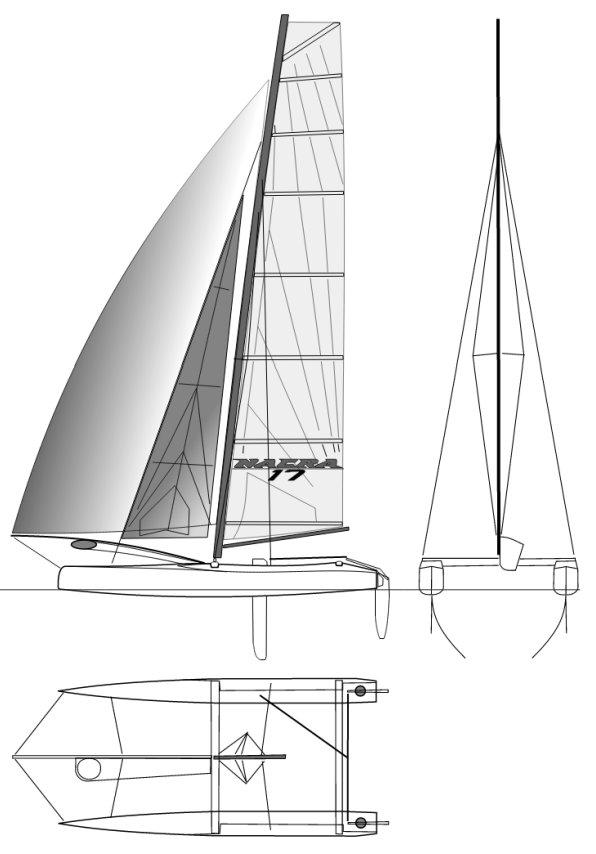 NACRA 17 drawing
