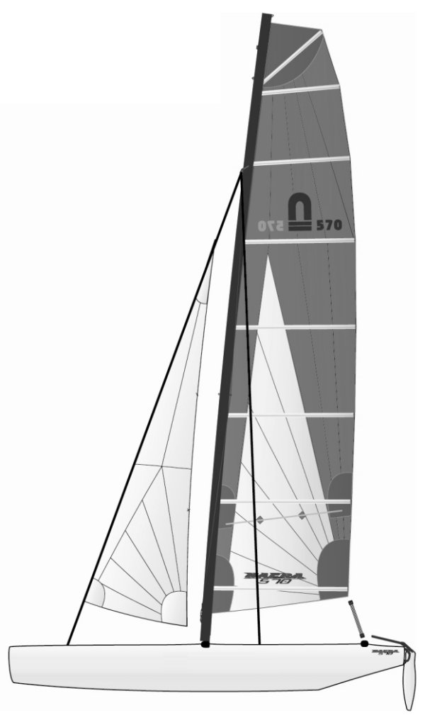 NACRA 570 drawing on sailboatdata.com