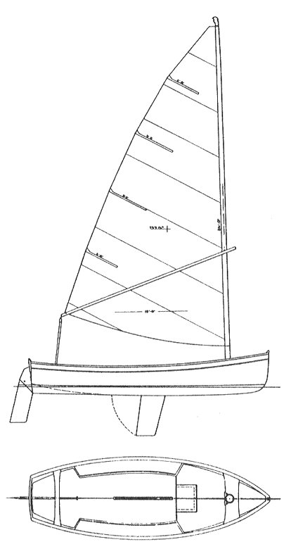 Naiad 18 drawing on sailboatdata.com