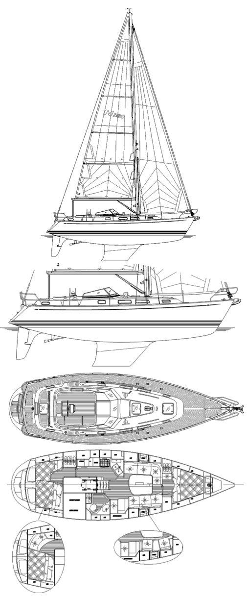SailboatData  NAJAD 380 Sailboat