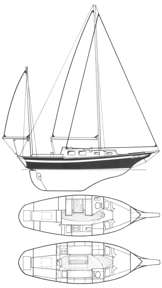 Nantucket Clipper (Buchanan) drawing on sailboatdata.com