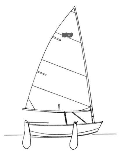 Naples Sabot drawing on sailboatdata.com