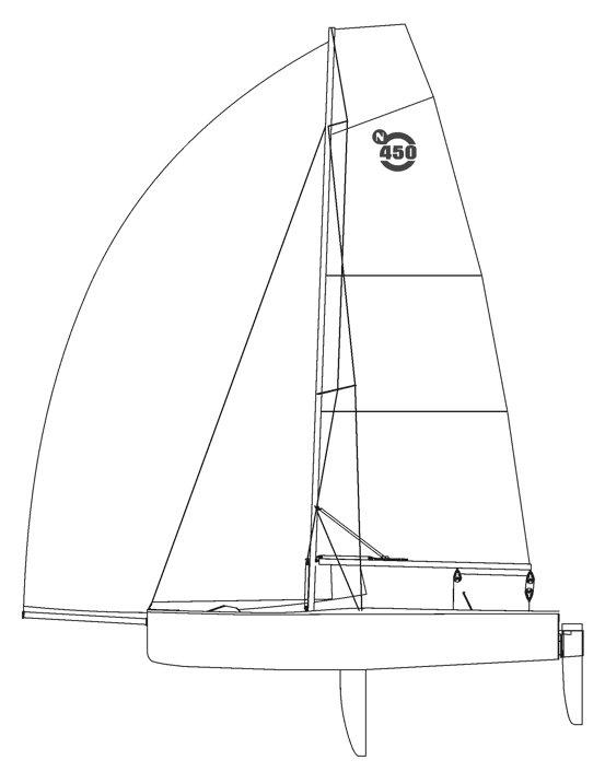 sailboatdata nautica 450 sailboat E-Scow Sailboat GL 31 nautica 450
