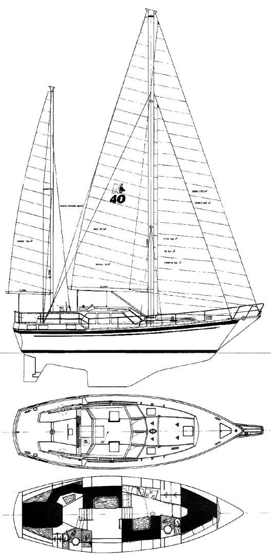 NAUTICAT 40 drawing