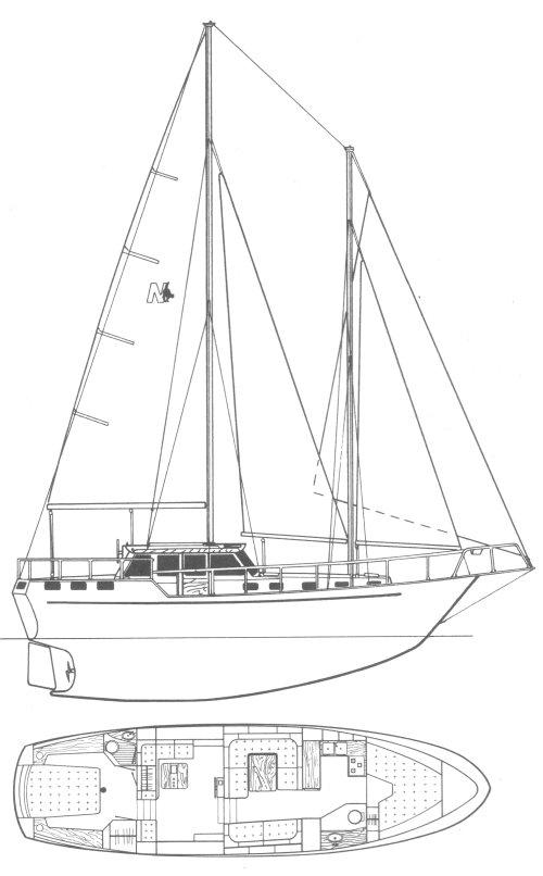 NAUTICAT 44 drawing