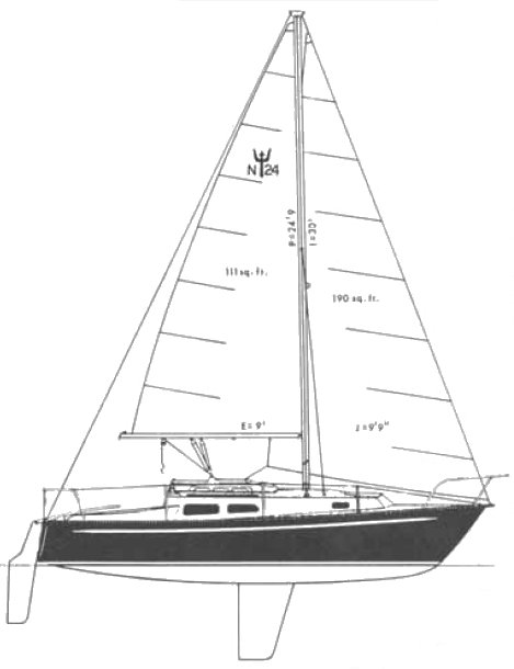Neptune 24 FK drawing on sailboatdata.com