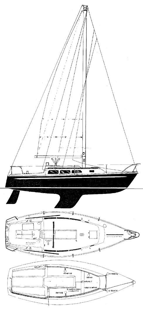 NEWPORT 30-2 drawing