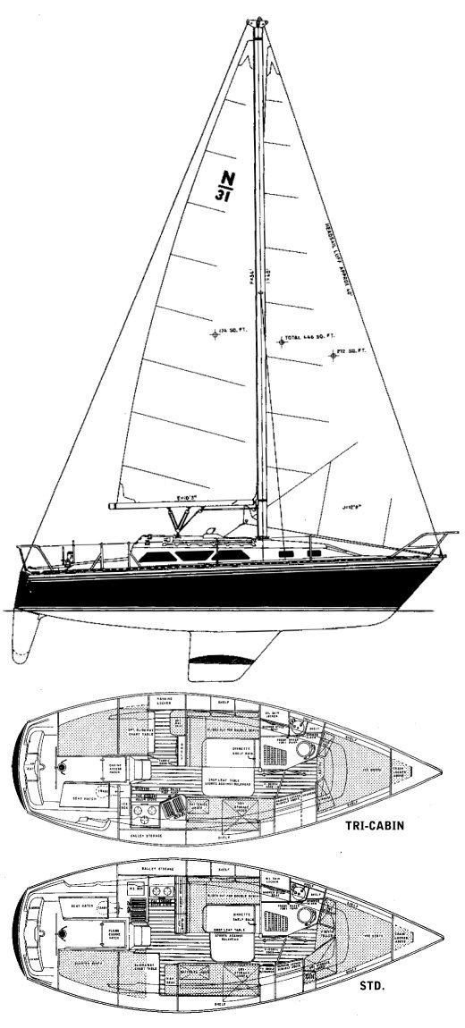 NEWPORT 31 drawing
