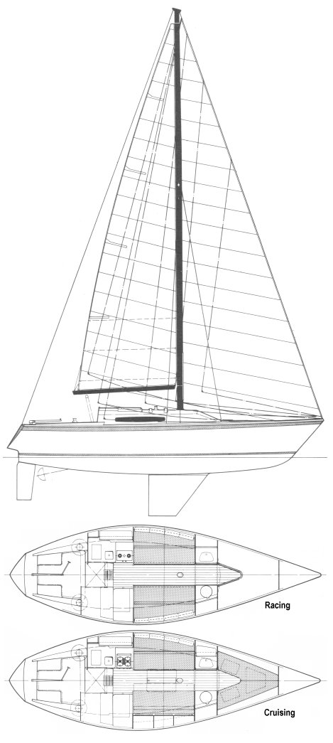 NICHOLSON 33 3/4 TON sailboat specifications and details