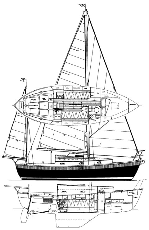 Nimble 30 drawing on sailboatdata.com