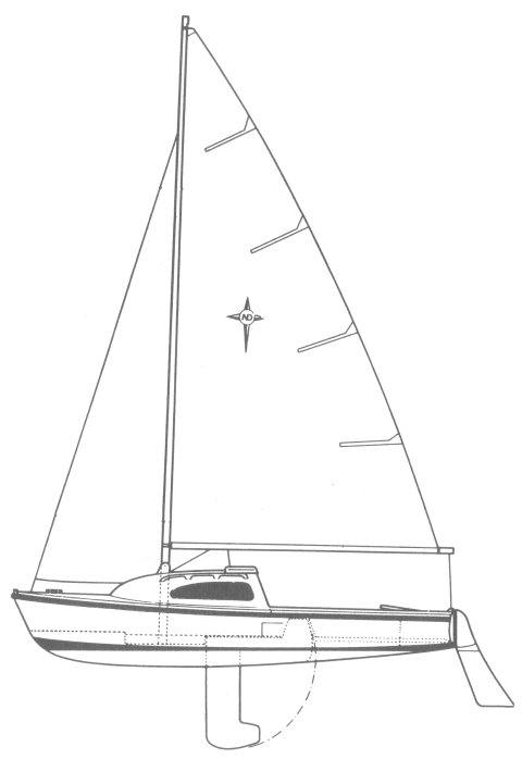 Nimrod 18 (Westerly) drawing on sailboatdata.com